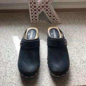 Chanel clogs pristine condition